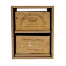Showcase Wooden Wine Bottle Case Rack - 2 Drawer
