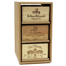 Showcase Wooden Wine Bottle Case Rack - 3 Drawer