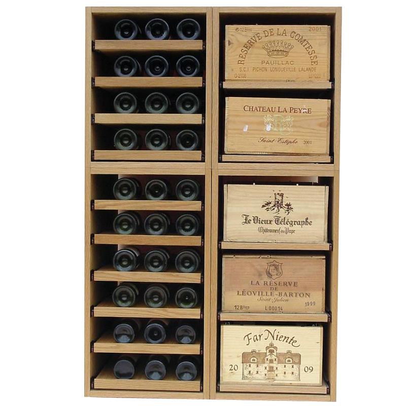 Showcase Wooden Wine Bottle Display 120 Bottles Wine