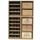 Showcase Wooden Wine Bottle Display - 120 Bottles