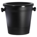 Standard Black Aluminium Wine Spittoon 2L - Black Funnel