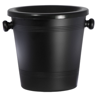 Standard Black Aluminium Wine Spittoon 2L - Black Funnel