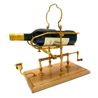 Wine Decanting Cradle - Low Brass, Square Base