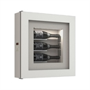 Quadro Vino Single Temperature Wall Mounted Champagne Cabinet - 3 Bottle Capacity QV30