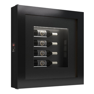 Quadro Vino Single Temperature Wall Mounted Wine Cabinet - 4 Bottle Capacity QV40
