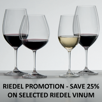 Riedel 25% OFF Vinum Promotion