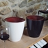 Pulltex White & Burgundy Acrylic Wine Spittoon 2L