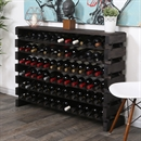 Modularack Wooden Wine Rack - Dark Stain with Top 6H x 12W