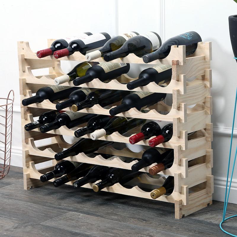 wine rack. Vinrack Wooden Wine Rack 48 Bottle - Natural Pine 6H X 8W