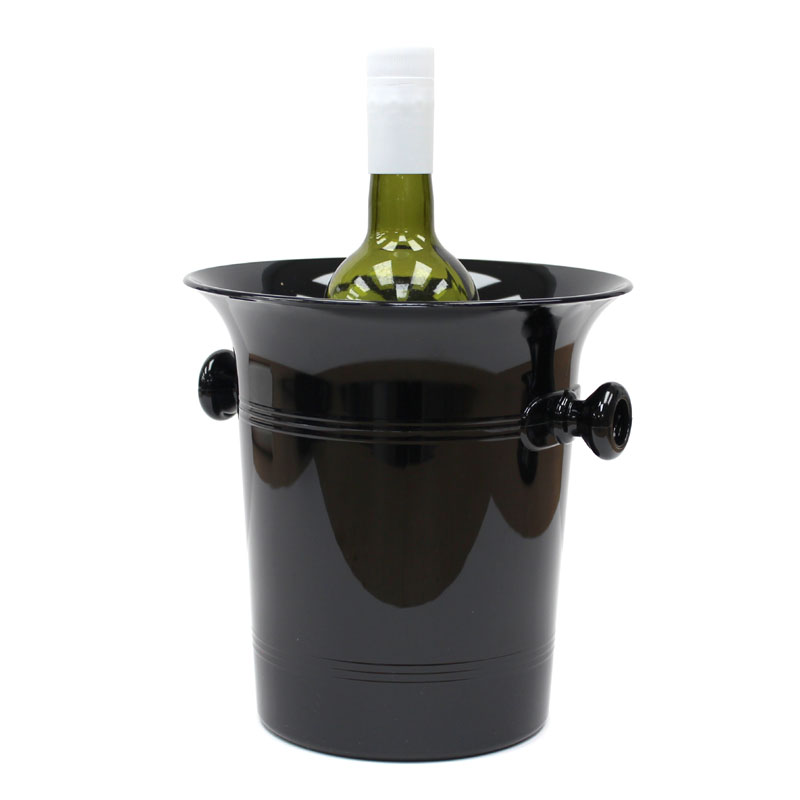 Black Plastic 2 Handles Wine Bucket /& Cooler//Ice Bucket