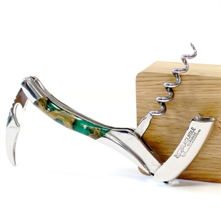 Laguiole En Aubrac Corkscrew Cactus Tree Root Handle with Green Resin Inlays