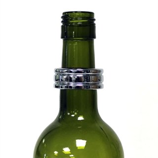 Chrome Plated Wine Bottle Drip Ring