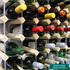Fully Assembled Wooden Wine Rack - Natural Pine & Galvanised Steel 156 Bottles - 12 x 12