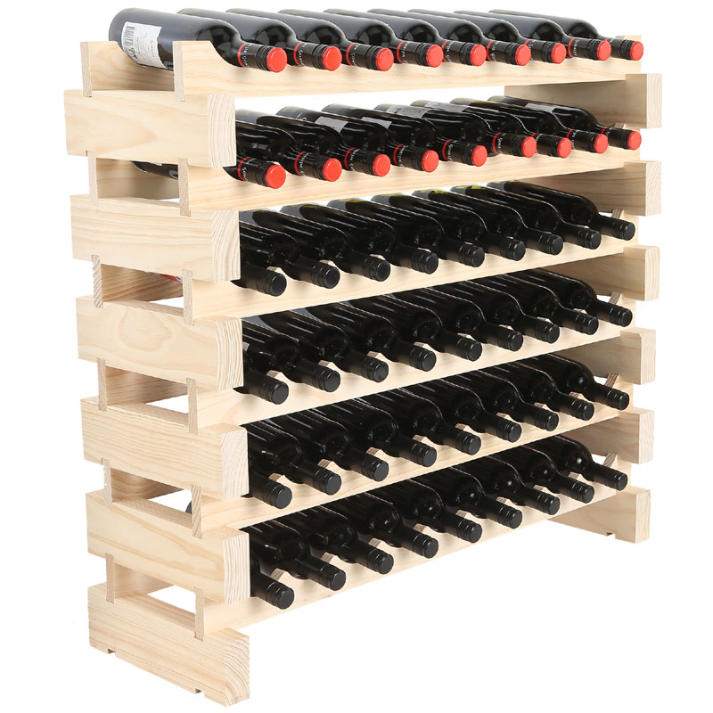 rack centre product pack wine block gift wooden bottle
