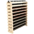 Modularack Wooden Wine Rack 120 Bottle - Natural Pine with Top 10H x 12W