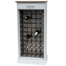 50 Bottle Grey Contemporary Wooden Wine Cabinet / Rack with Plinth
