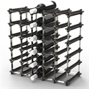 NOOK 25/30 Bottle Self Assembly Wine Rack - Black