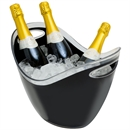 Wineware 8L Plastic Wine & Champagne Cooler/Bucket - Black