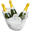 Wineware 8L Plastic Wine & Champagne Cooler/Bucket - Clear