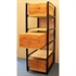 Wine Bottle Case Rack Metal & Wood - 3 Drawer