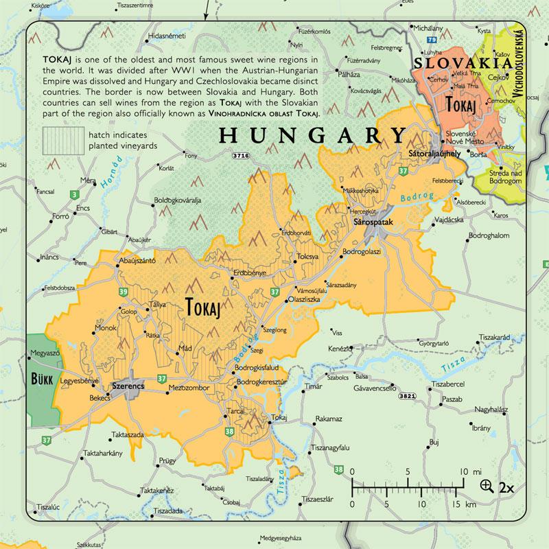 De Long\'s Wine Map of Austria and Hungary - Wine Regions, Wine ...