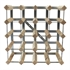 Fully Assembled Wooden Wine Rack - Natural Pine & Galvanised Steel 20 Bottle 4 x 4