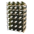 Fully Assembled Wooden Wine Rack - Natural Pine & Galvanised Steel 30 Bottle 6 x 4
