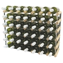 Fully Assembled Wooden Wine Rack - Natural Pine & Galvanised Steel 42 Bottle 7 x 5
