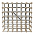Fully Assembled Wooden Wine Rack - Natural Pine & Galvanised Steel 42 Bottle 6 x 6