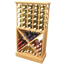65 Bottle Solid Wood Wine Cabinet / Rack with Plinth