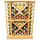 68 Bottle Solid Wood Wine Cabinet / Rack with Plinth