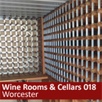 Small outhouse in Worcester using traditional wine racks