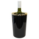 Plastic Oval Wine Cooler & Ice Bucket - Black