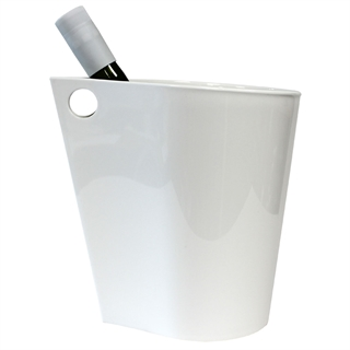Wineware Modern Wine & Champagne Cooler / Ice Bucket - White