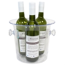 Maxi Plastic Wine Bucket & Cooler / Ice Bucket - 2/3 Bottles - Clear