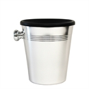 Mini / Individual Aluminium Wine Spittoon 1L - Black Funnel