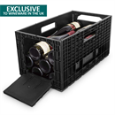 ISOCO Wine Box Wine Storage - 1 Box (12 Bottle Capacity)