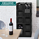 ISOCO Wine Box Wine Storage - 6 Boxes (72 Bottle Capacity - 12 Bottles per Box)