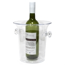 Plastic Wine & Champagne Cooler / Ice Bucket - Clear