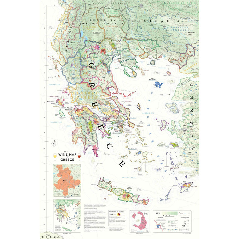 Map Of Uk With Regions.De Long S Wine Map Of Greece Wine Regions