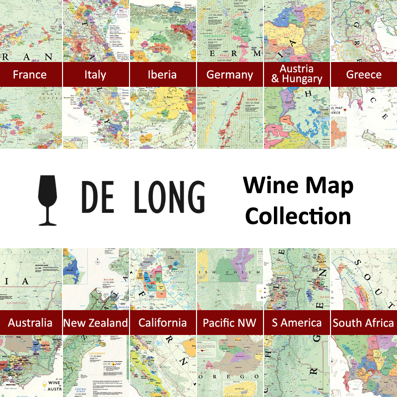 Wine Region Italy Map.De Long S Wine Map Collection All 12 Wine Region Maps Wine
