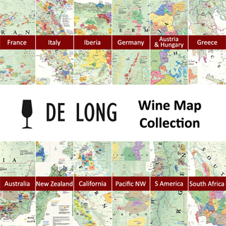 De Long's Wine Map Collection - All 12 Wine Region Maps