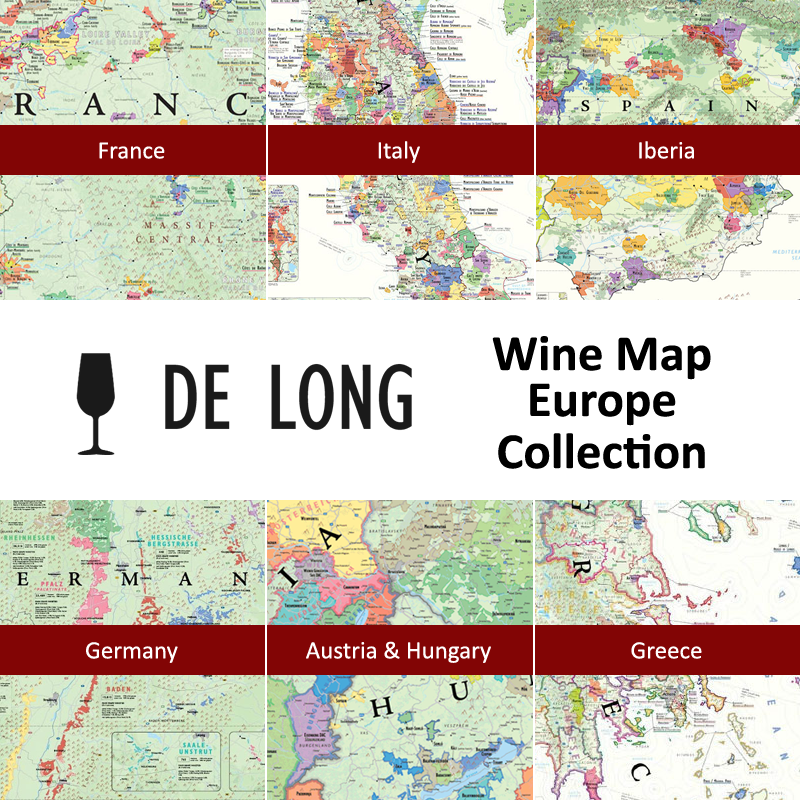 Map Of Europe And The Uk.De Long S Wine Map Europe Collection 6 Wine Region Maps