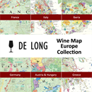 De Long's Wine Map Europe Collection - 6 Wine Region Maps