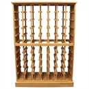 70 Magnum Bottle Solid Oak Wooden Wine Cabinet / Rack with Plinth