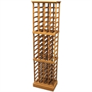 72 Bottle Solid Wood Wine Cabinet / Rack with Plinth
