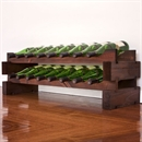Modularack Wooden Wine Rack 16 Bottle - Dark Stain 2H x 8W