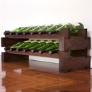 Modularack Wooden Wine Rack 14 Bottle - Dark Stain 2H x 7W