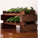 Modularack Wooden Wine Rack 8 Bottle - Dark Stain 2H x 4W