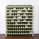 Modularack Wooden Wine Rack 120 Bottle - Natural Pine 10H x 12W